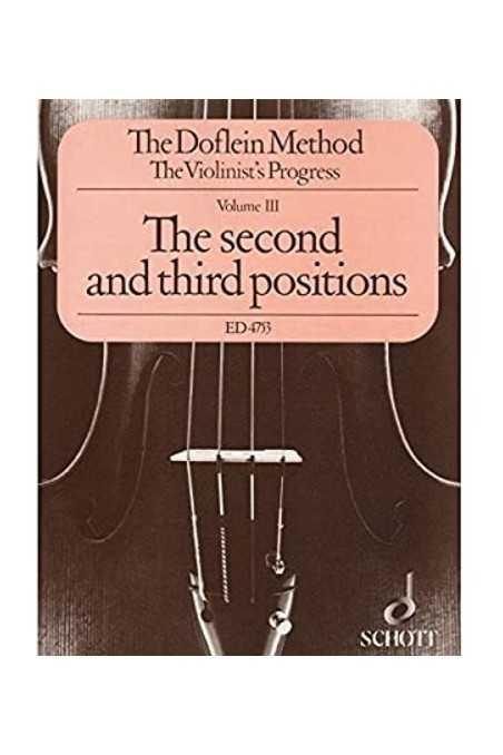 The Doflein Method Vol 3 ( Schott)- The Second And Third Position