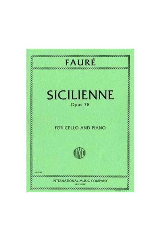 Faure, Sicilienne for Cello...
