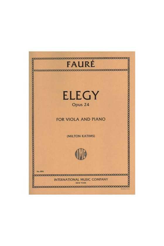 Faure, Elegy Op. 24 For...