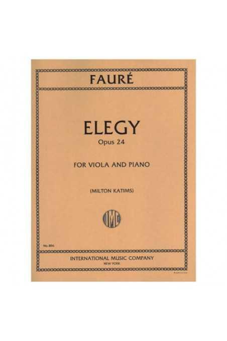 Faure, Elegy Op. 24 For Viola (IMC)