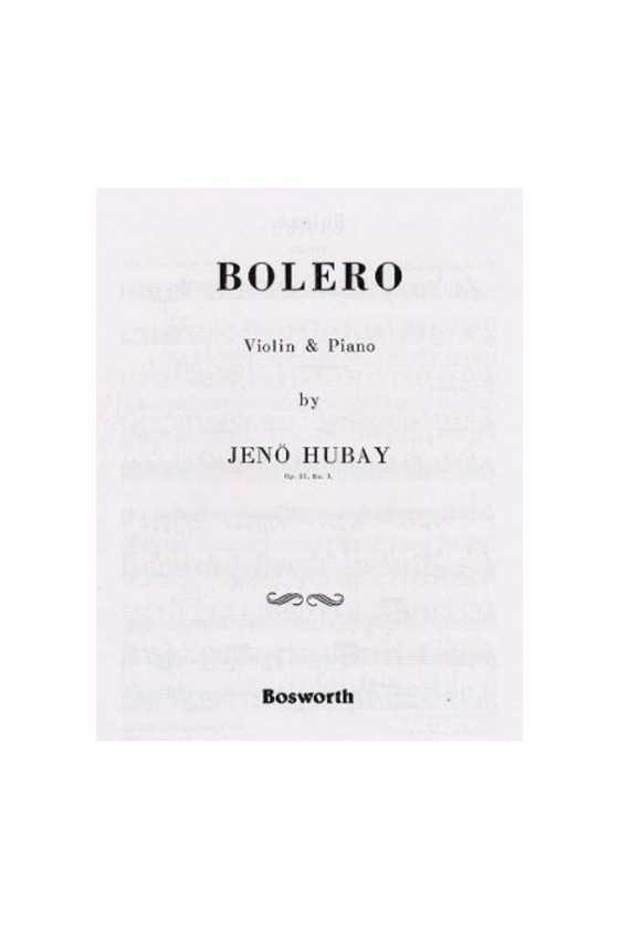 Hubay, Bolero For Violin...