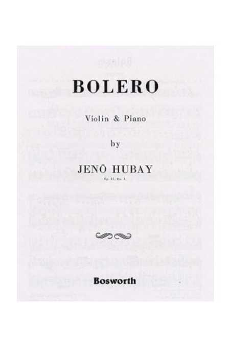 Hubay, Bolero For Violin And Piano (Bosworth)