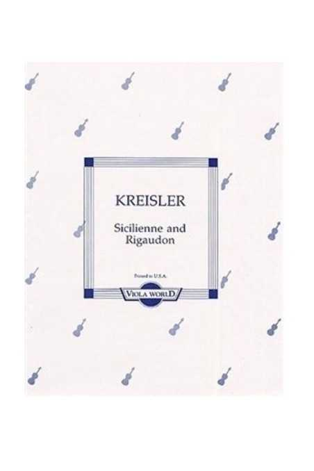 Kreisler Sicilienne And Rigaudon (Viola World)