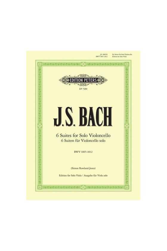 Bach, Six Suites For Cello...