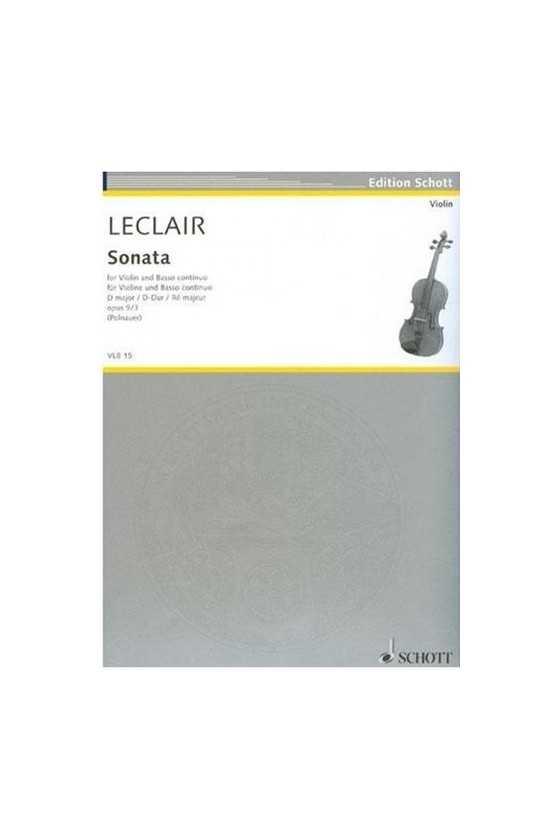 Leclair, Sonata In D Op. 9...
