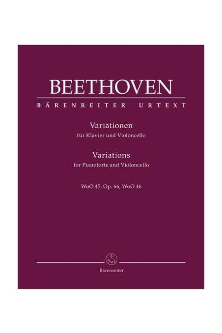 Complete Variations For Cello/Piano By Beethoven (Barenreiter)