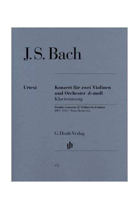 Bach Concerto D minor BWV 1043 for 2 Violins and Orchestra (Henle)