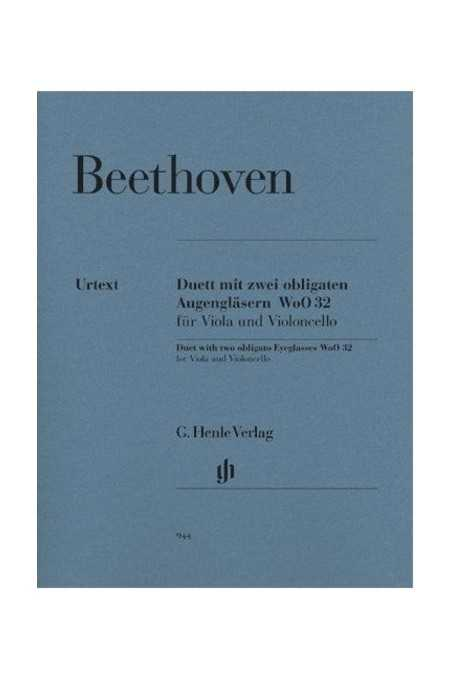 Beethoven Duet 'With 2 Obligato Eyeglasses' For Viola & Cello