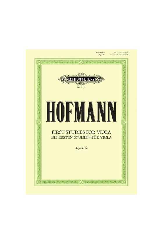 Hofmann, First Studies for...