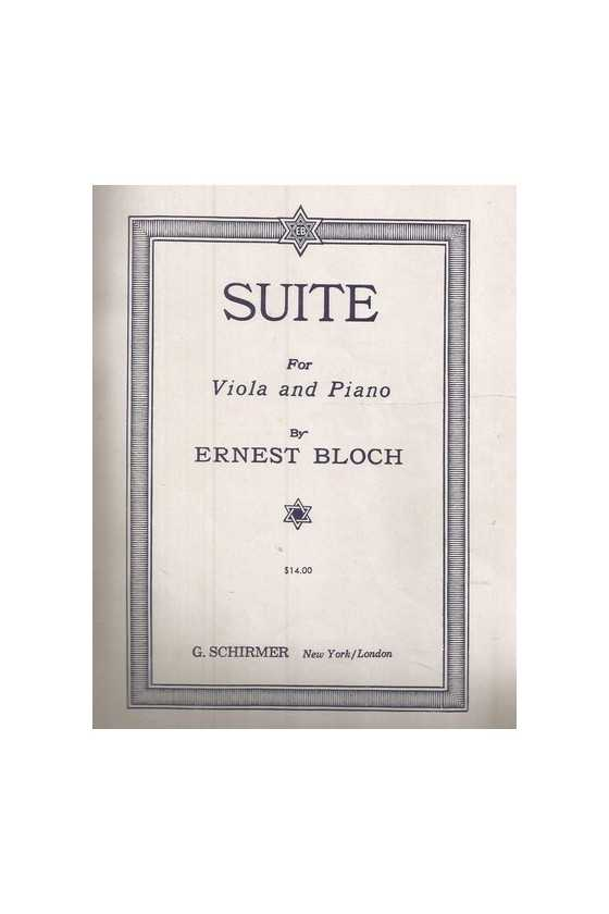 Bloch Suite for Viola and...