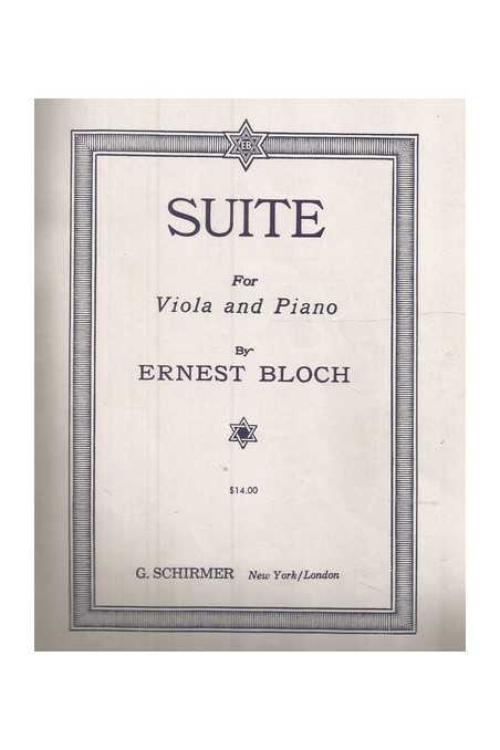 Bloch Suite For Viola And Piano (Schirmer)
