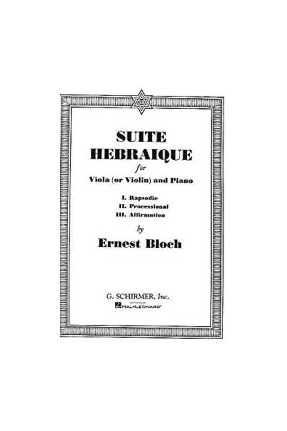 Bloch, Suite Herbraique for...