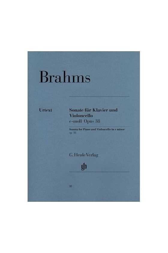 Brahms, Sonata In E Minor...