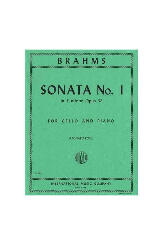 Brahms, Sonata No 1 In E...