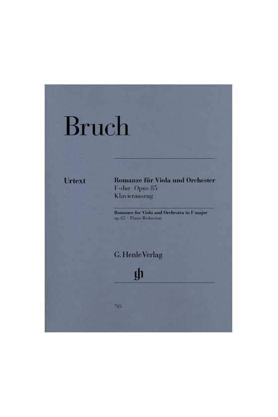 Bruch, Op. 85 Romance For...