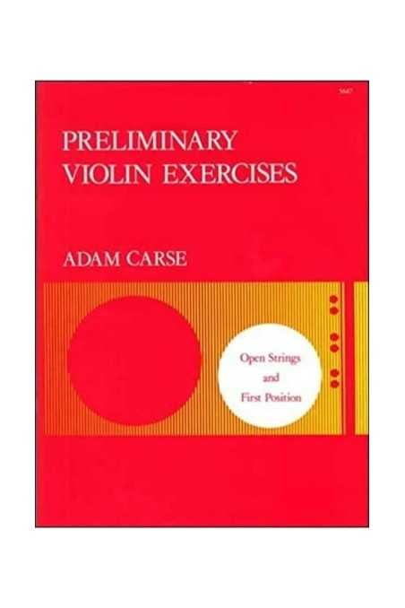 Carse, Preliminary Violin Exercises Open Strings & First Position
