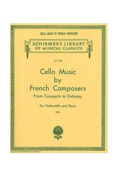 Cello Music By French Composers (Schirmer)