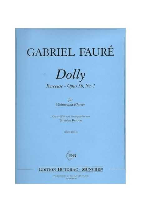 Faure-Berceuse From Dolly Op 56 No 2 For Violin (EBM)