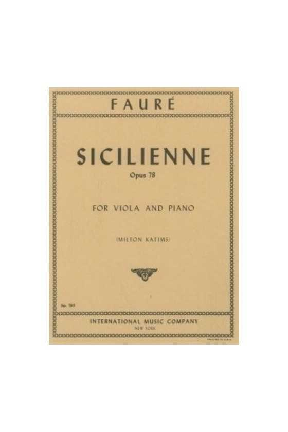 Faure- Sicilienne Op 78 For...