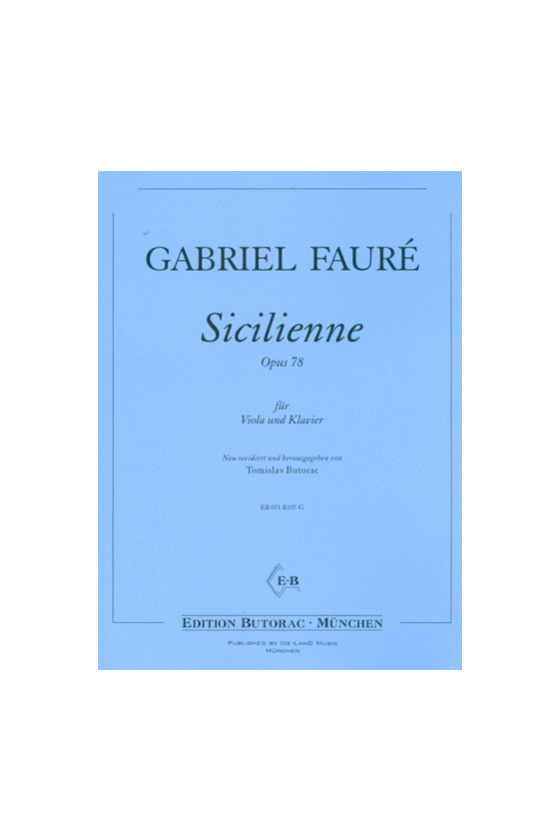 Sicilienne For Violin And...