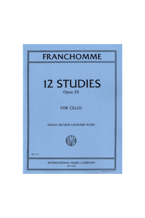 Franchomme, 12 Studies For...
