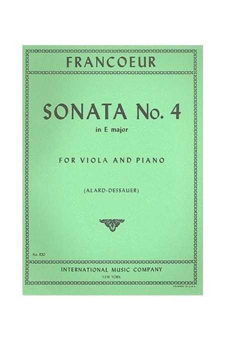 Francoeur, Sonata No. 4 In E Major For Viola And Piano (IMC)