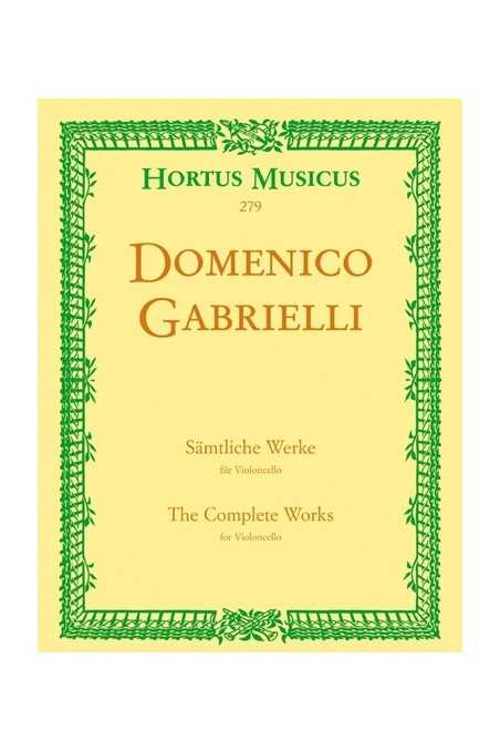 Complete Works For Cello By Gabrielli (Barenreiter)
