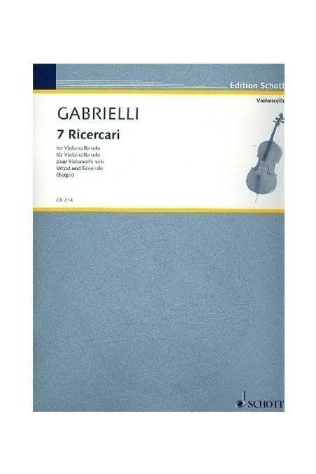 Gabrielli, 7 Ricercari For cello