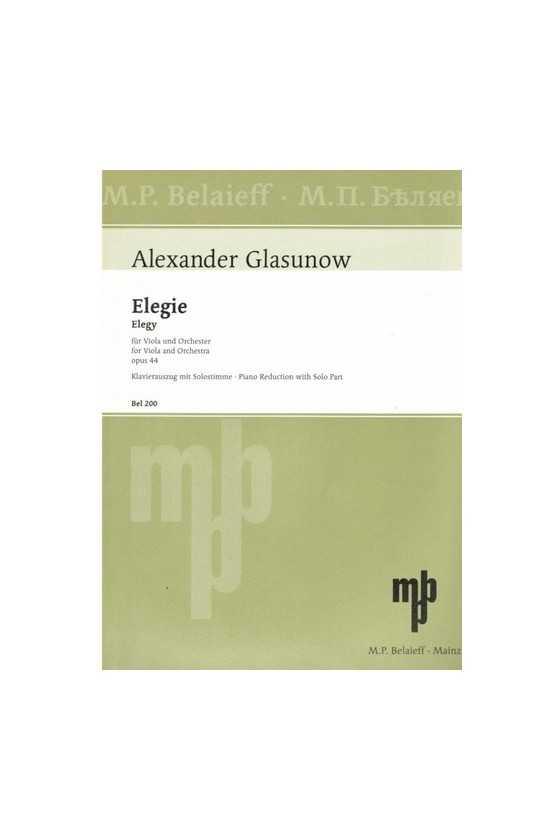 Glazunov, Elegy For Viola...