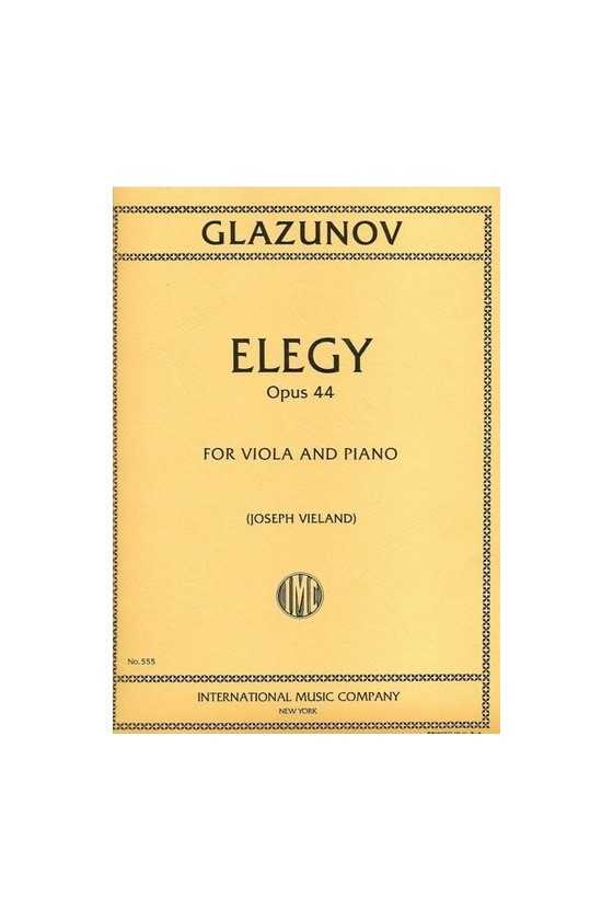 Glazounov Elegy Op44 Ed...