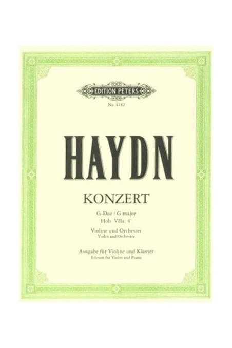 Haydn, Violin Concerto No2 Hob. VIIA No4 in G major (Peters)