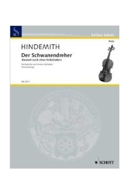 Hindemith, Der Schwanendreher For Viola And Orchestra (Schott)