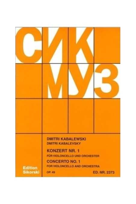 Concerto No. 1 For Cello By Kabalevsky