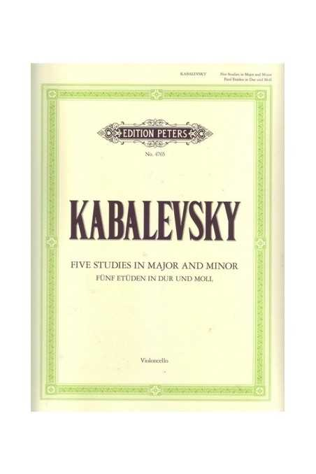 Five Studies In Major And Minor For Cello By Kabalevsky