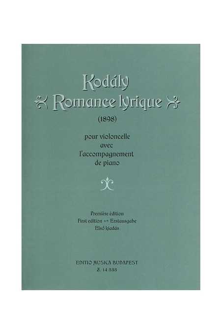Kodaly, Romance Lyrique For Cello
