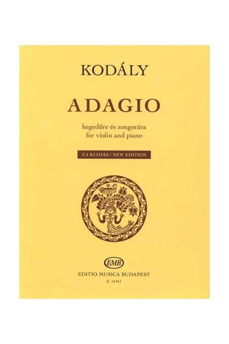 Kodaly, Adagio For Either Violin, Viola, Cello And Piano (EMB)