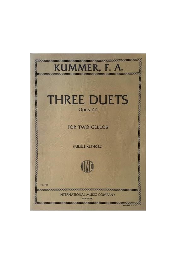 Kummer Three Duets Opus 22...