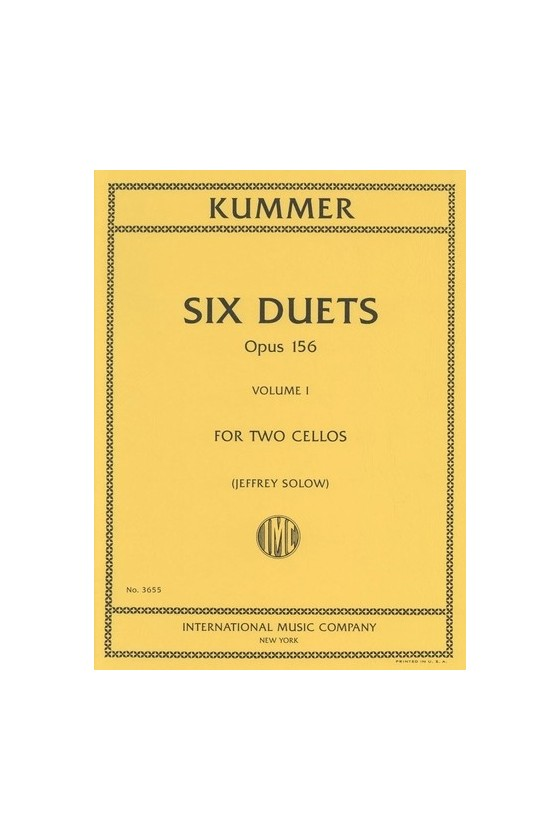 Six duos for cello op. 156...