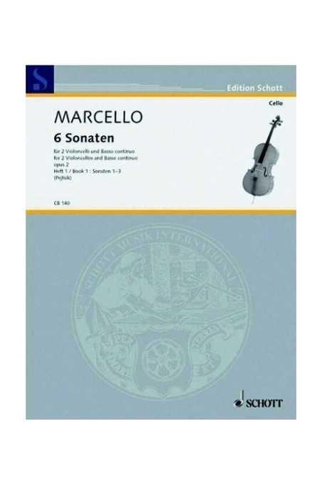 Marcello, 2 Sonatas In G And C For Cello (Schott)