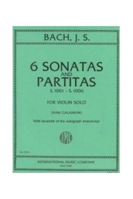 Bach Sonatas and Partitas for Violin BWV 1001-1006 Edt Galamian IMC
