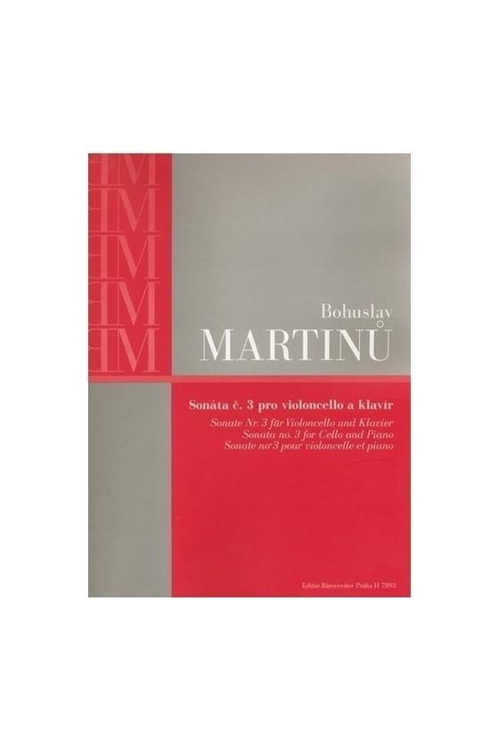Martinu, Sonata No. 3 for...