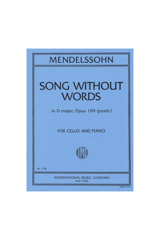 Mendelssohn Song Without...