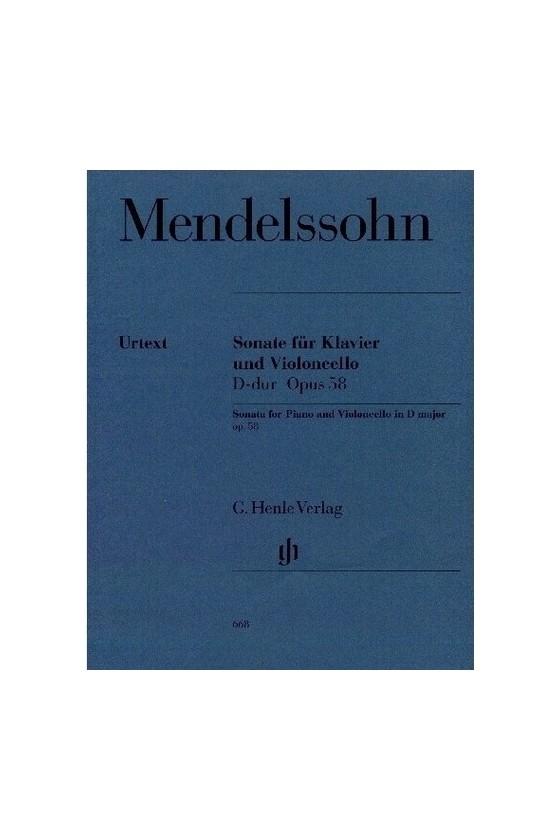 Mendelssohn, Sonata In D...