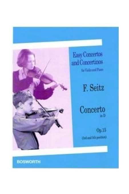 Seitz Concerto In D Op 15 For Violin (Bosworth)