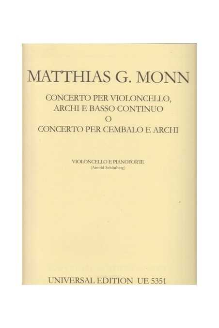 Monn, Concerto For Cello (Universal)