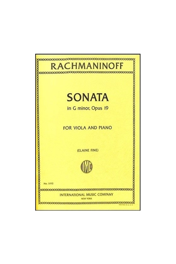 Rachmaninoff Sonata In G...