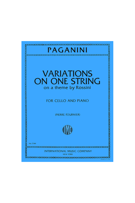 Paganini, Variations on One...