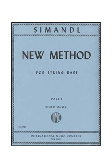 Simandl, New Method Part 1 For Double Bass (IMC)