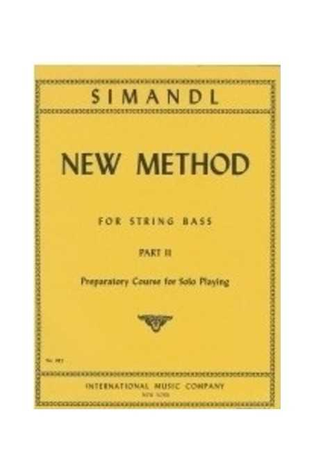 Simandl, New Method Part 2 For Double Bass (IMC)