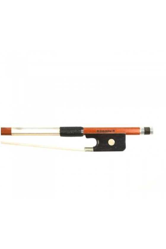 Dorfler Viola Bow - 20a Pernambuco Wood - Genuine Silver Trimming - Master Bow - Octagonal